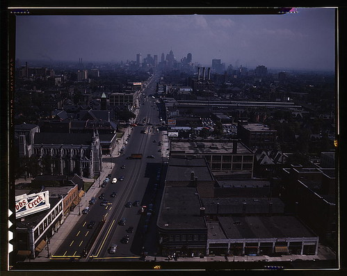 Looking south from the Maccabees Building with the Detroit skyline in the distance, Detroit, Mich.  (LOC)