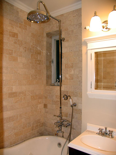 Small bathroom remodel fixtures bathroom remodel ideas zimbio for Remodel small bathroom with shower
