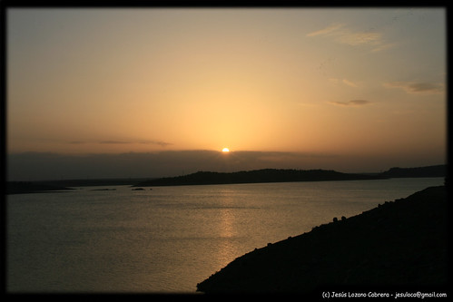 sunset españa sol spain playa pantano puesta castillo embalse extremadura alange