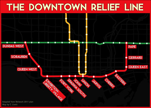 the case for a downtown relief line spacing toronto. Black Bedroom Furniture Sets. Home Design Ideas