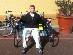 Ron on the Recycled Bicycle @ Cape Town 05.2011