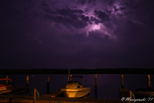 Storm over Shady River Marina