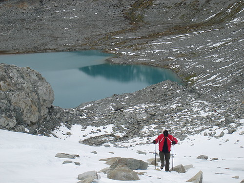 Wedgemount lake - snowshoeing