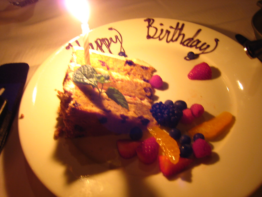 birthday outing: mastro's birthday carrot cake