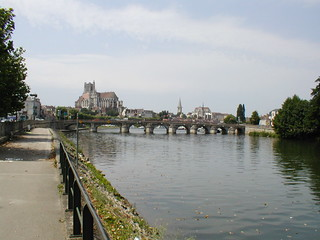 River Yonne looking towards the city, France 2003