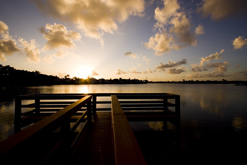 bridge sunset sky cloud sun lake water soleil fishing eau florida nuage