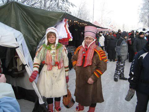 Op de Sámi wintermerk in Jokkmokk