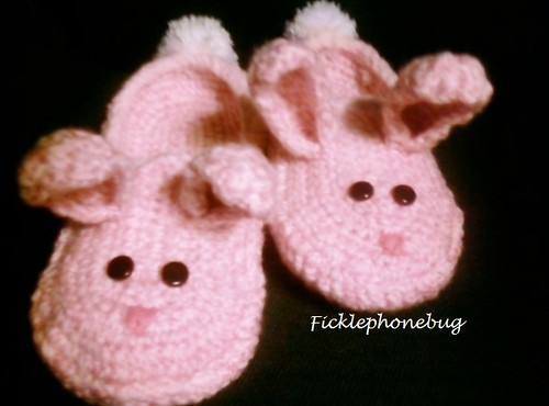 Fluffy Bunny Slippers finished