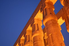 luxor temple at dusk, thebes, egypt 6