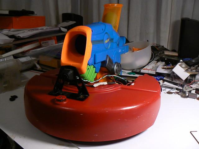Roomba with Nerf Gun
