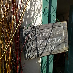 #heidibohan #gatherertogardener #traditionalskills #studio #carnation #willow #chalkboard #sign