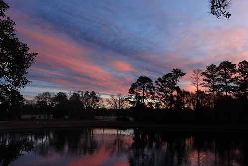sunrise cloudsstormssunsetssunrises spectacularsunsetsandsunrises clouds cloudscape pink lake northcarolina fairfieldharbour trees