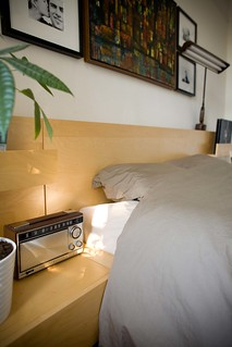 Transistor radio side of bed