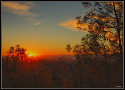 california sunset oroville dphdr