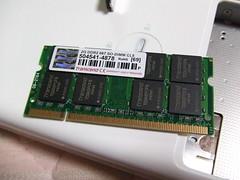 MacBook メモリ交換過程