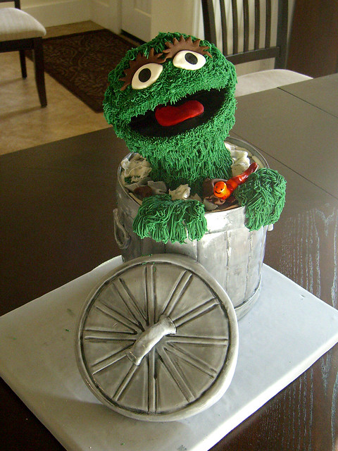 Oscar The Grouch Cake Flickr Photo Sharing