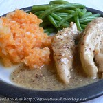 Mustard chicken with celeriac & carrot mash