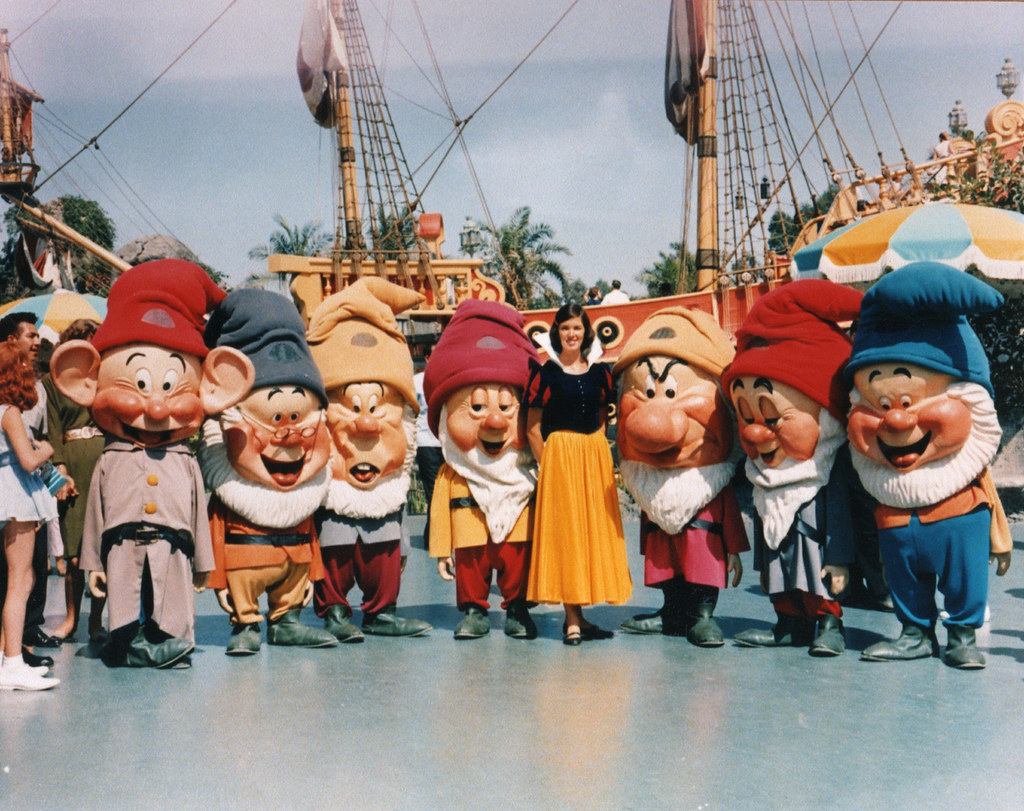 snow white amp the seven dwarfs at disneyland 1963 a