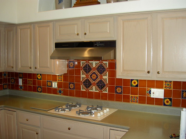 mexican tile kitchen backsplash flickr photo