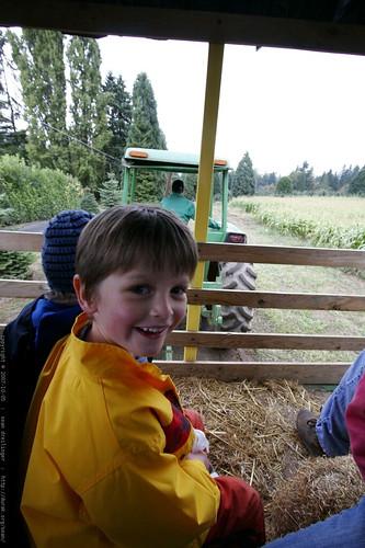 nick, enjoying the hay ride    MG 4435