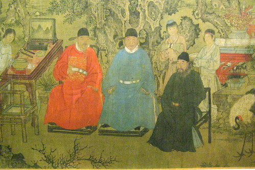 NYC - Metropolitan Museum of Art - Elegant Gathering in the Apricot Garden
