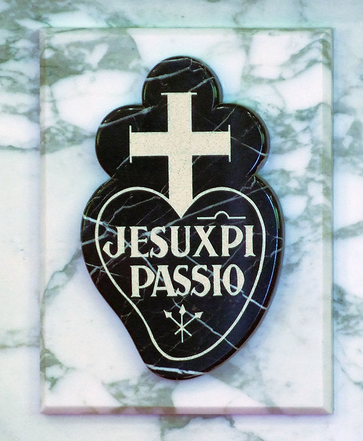 Passionists Nuns Chapel, in Ellisville, Missouri, USA - Passionists emblem.jpg