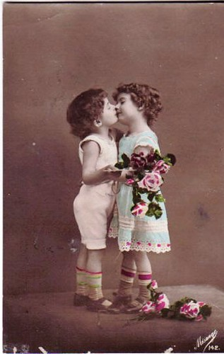 Vintage Postcard ~ This Kiss