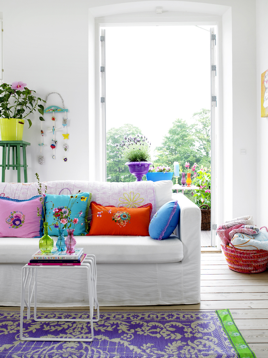 Rice color me happy decor8 Colour schemes for living rooms 2014