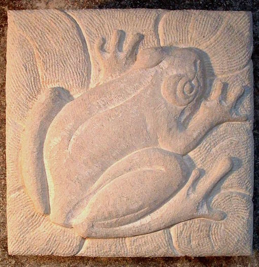 Relief carving. Limestone.