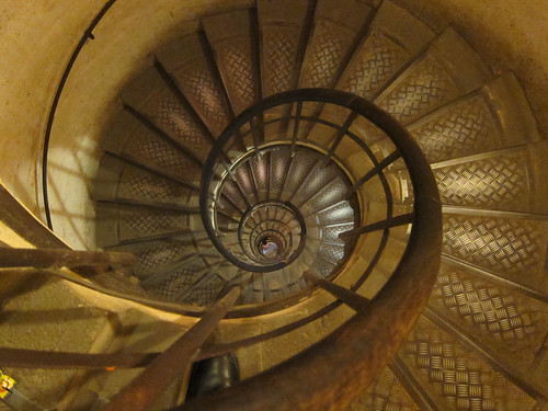Spiral staircase up the Arc de Triomphe