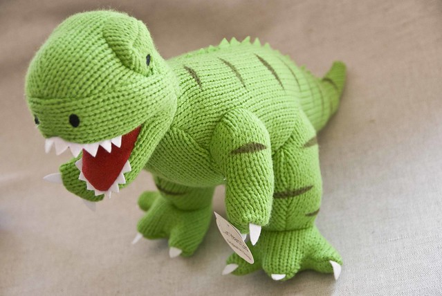 Knitting Pattern Dinosaur Toy : Cute knitted Dinosaur...Big! Flickr - Photo Sharing!