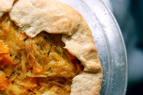butternut squash and caramelized onion galette smitten
