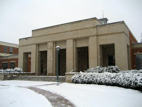 Snow at UVA Law 2008