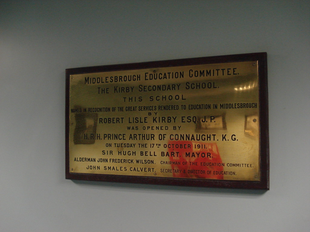 Plaque commemorating the opening of the Kirby Secondary Sc