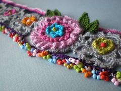Gerbera Freeform Crochet Necklace