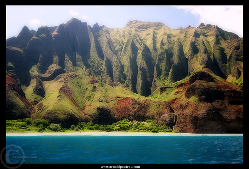 Na Pali Coast and the Blue Pacific