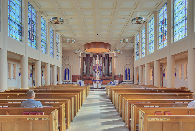 Saint Paul Roman Catholic Church, in Highland, Illinois, USA - nave