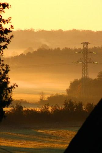 autumn light nature fog sunrise germany europe nebel alemania tyskland allemagne duitsland eos40d