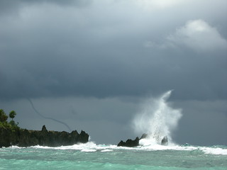 water spout over west end point