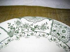 art, pattern, dishware, textile, flower, leaf, platter,