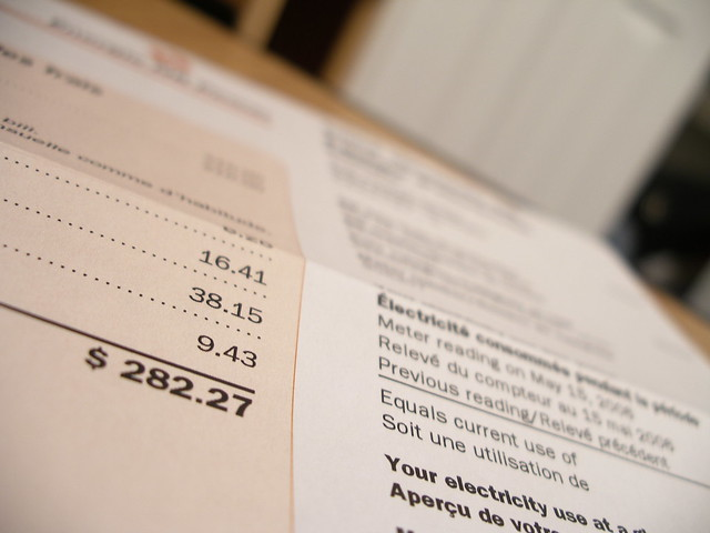 my power bill from Flickr via Wylio