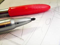pen, red,