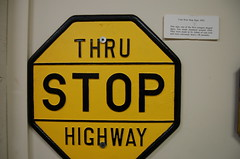 1921 cast iron stop sign R E Olds Museum 049 N