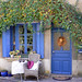 pretty blue cottage, Gargilesse. France
