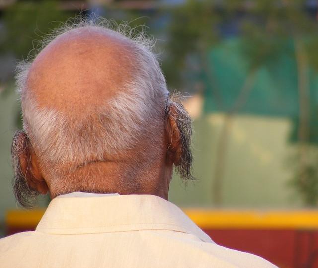 Vintage Hairy Old Man