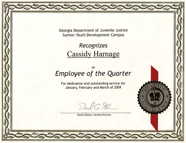 Employee of the quarter flickr photo sharing for Employee of the quarter certificate template