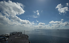 MANILA (May 15, 2011) The Nimitz-class aircraft carrier USS Carl Vinson (CVN 70) and ships from the Carl Vinson Carrier Strike Group anchor in Manila Bay. (U.S. Navy photo by Mass Communication Specialist 2nd Class James R. Evans)