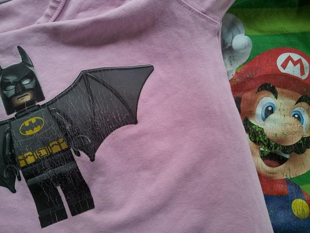 Råkade torktumla Batman.... fast butiksköpt är inte alltid bättre, se Mario från H&M
