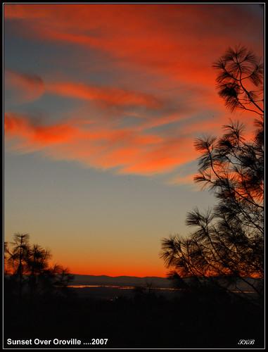 california sunset oroville