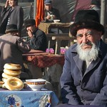 Older Uighur Man on Tea Break - Kashgar, China